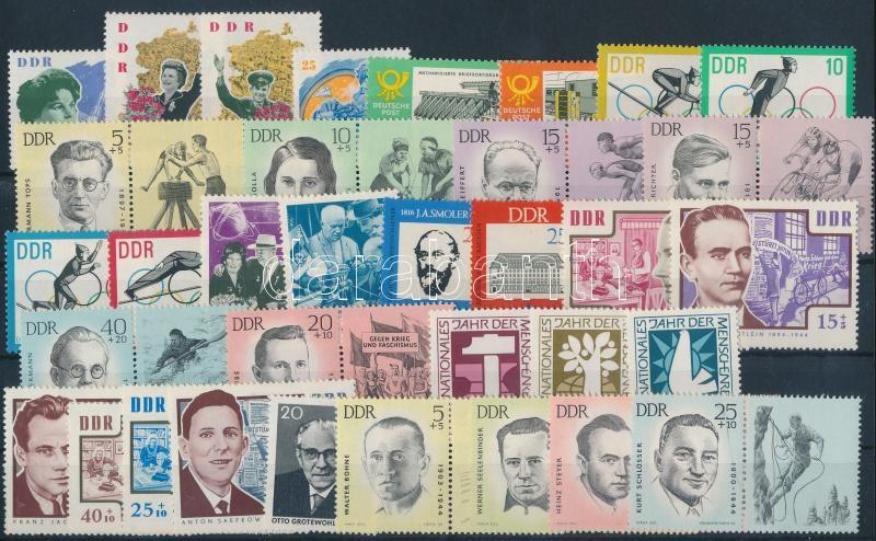 1963-1968 9 sets + 1 individual values, 1963-1968 9 klf sor + 1 önálló érték