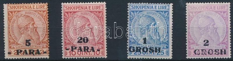 4 definitive overprinted stamps, Forgalmi felülnyomott sor 4 értéke