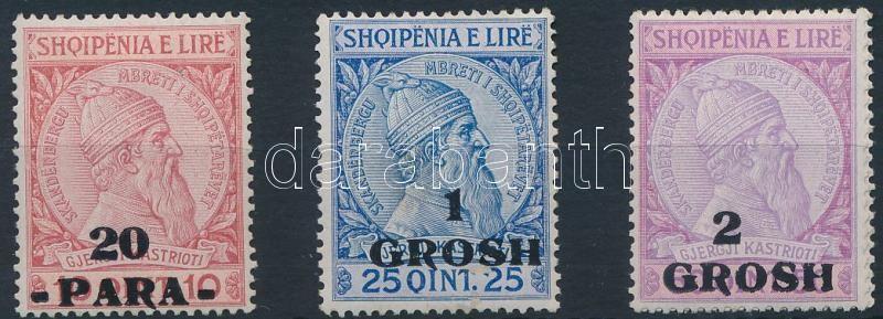 3 definitive overprinted stamps, Forgalmi felülnyomott sor 3 értéke
