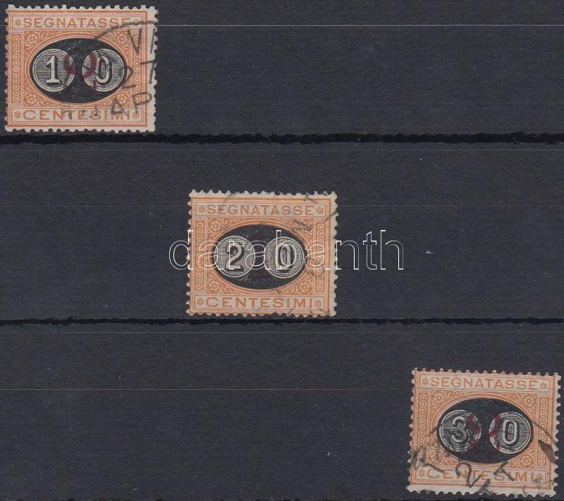 Postage due set, Portó sor