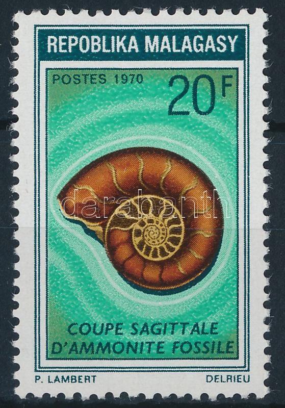 Fossils: snail stamp, Ősmaradvány: csiga bélyeg