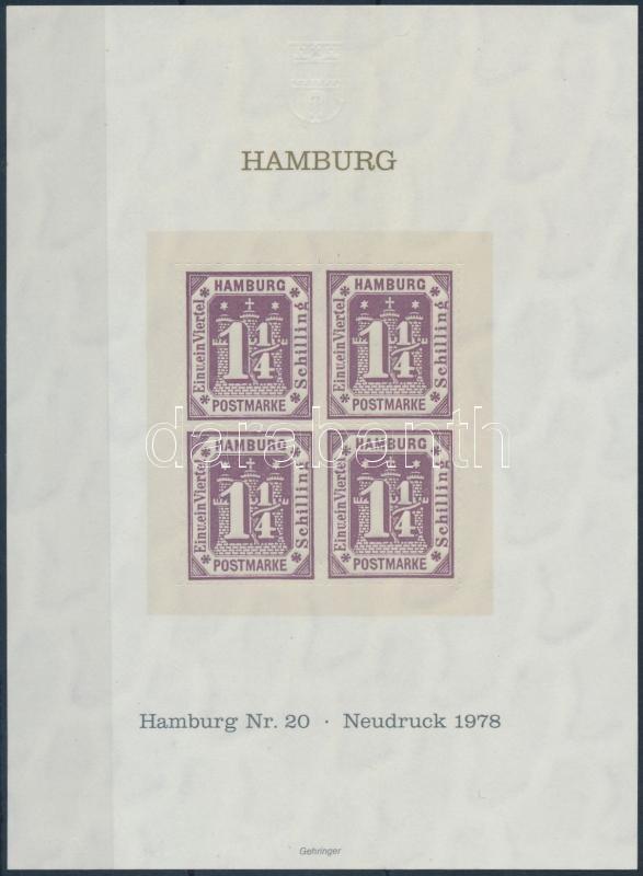 Hamburg memorial sheet, Hamburg emlékív
