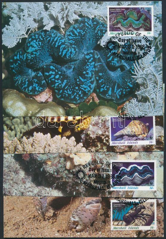 WWF tengeri ízeltlábú és puhatestű sor CM, WWF Marine arthropods and molluscs set CM