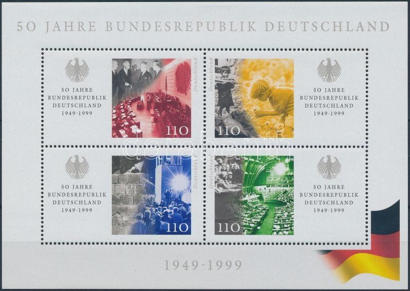 50 éves a Német Szövetségi Köztársaság blokk, 50th anniversary of the Federal Republic of Germany block