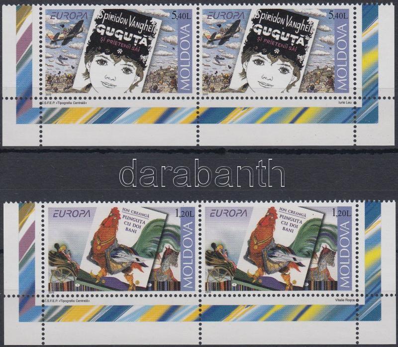 Europa CEPT: Gyermek könyvek sor ívsarki párokban + bélyegfüzet, Europa CEPT: Children's books set corner pairs + stamp-booklet