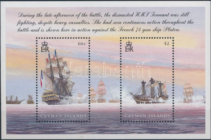 200th anniversary of Trafalgar battle block, Trafalgar-i tengeri csata 200. évfordulója blokk