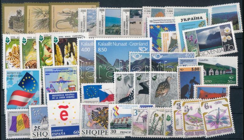 Europe 31 stamps, Európa motívum 31 klf bélyeg közte sorok, párok