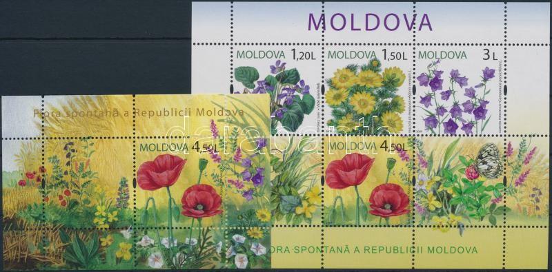 Virágok 2 blokk, Flowers 2 blocks