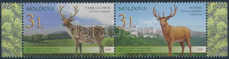 Deer margin set in pair, Szarvas sor ívszéli párban
