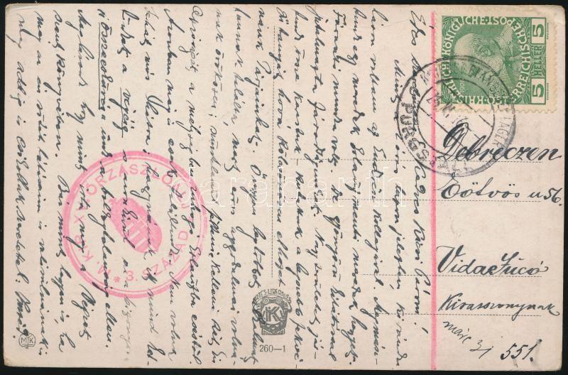 """Postcard from POW-camp """" M. KIR. XV. ŐRZÁSZLÓALJ 3. SZÁZAD"""" + """"KRIEGSGEFANGENENLAGER PURGSTALL c"""" - Debreczen, Képeslap hadifogoly táborból """" M. KIR. XV. ŐRZÁSZLÓALJ 3. SZÁZAD"""" + """"KRIEGSGEFANGENENLAGER PURGSTALL c"""" - Debreczen"""