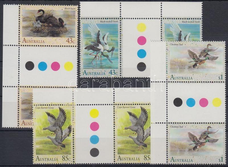 Birds set sheet-centered pairs, Vízimadarak sor ívközéprészes párokban