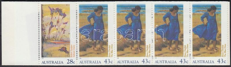 Impresszionista festmények bélyegfüzet, Impressionist paintings stamp-booklet