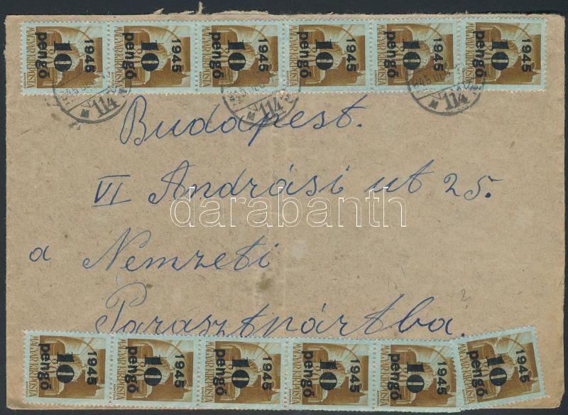 Inflation cover, (5. díjszabás) Távolsági levél Kisegítő II. 12x10P/80f bérmentesítéssel