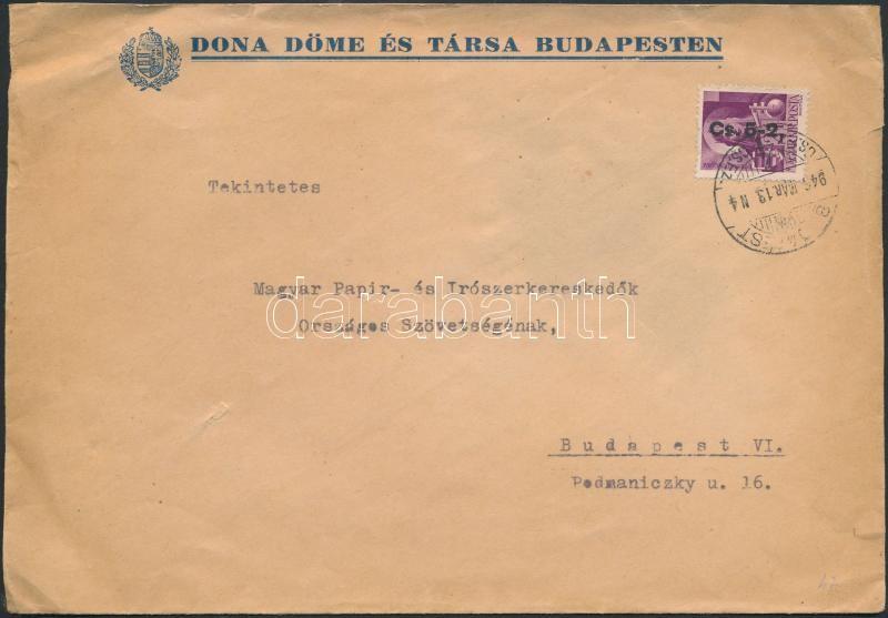 (8. díjszabás) Helyi céges levél Betűs II. Cs.5-2./24f bérmentesítéssel, Inflation cover