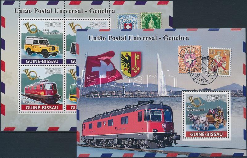 Svájci Posta járművei kisív + blokk, Swiss Post's vehicles minisheet + block