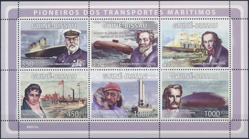 Shipbuilders, sailors minisheet, Hajóépítők, tengerészek kisív