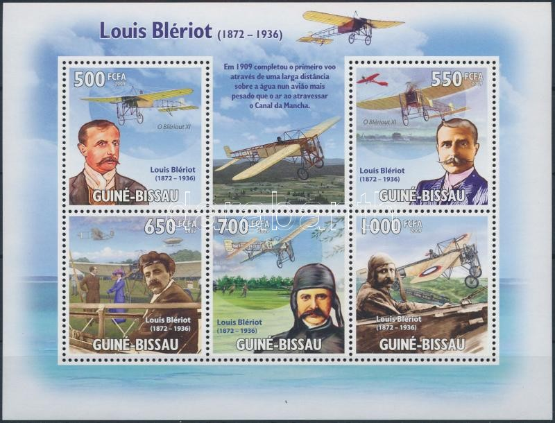 Louis Blériot: Aviation minisheet, Louis Blériot: Repülő kisív