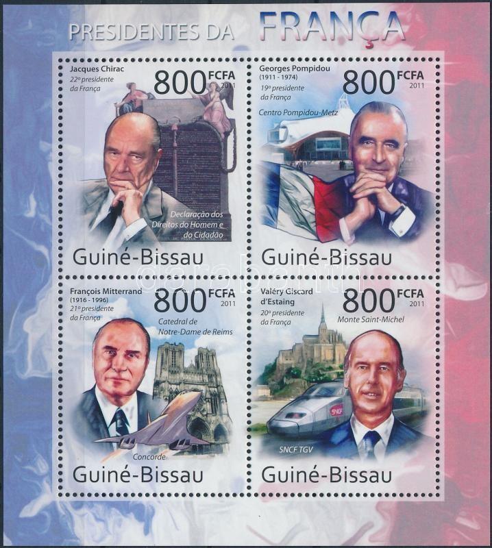 French presidents minisheet, Francia elnökök kisív