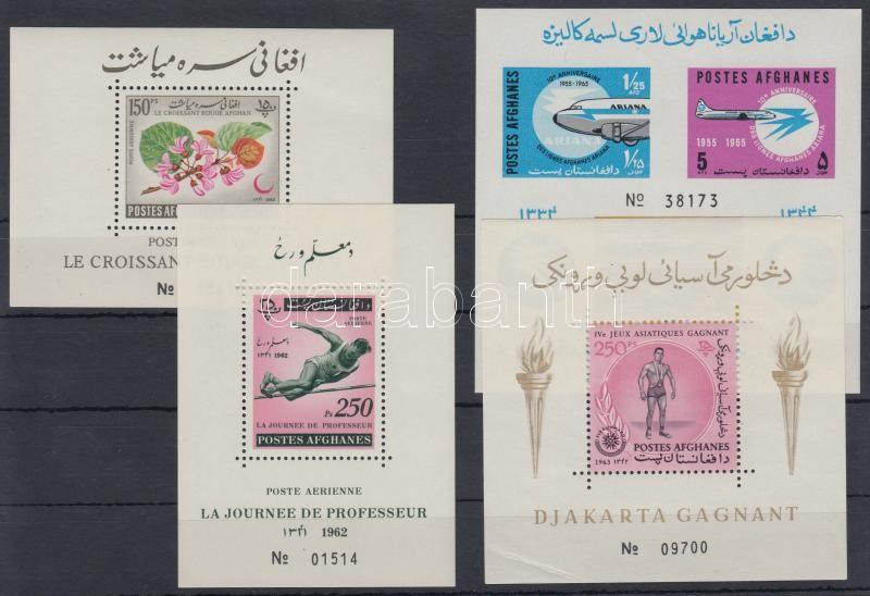 Afghanistan (1962-65) 4 blocks, Afganisztán (1962-65) 4 klf blokk
