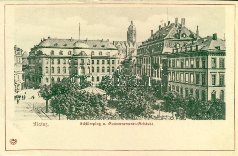 Mainz, Schillerplatz und Gouvernements Gebäude