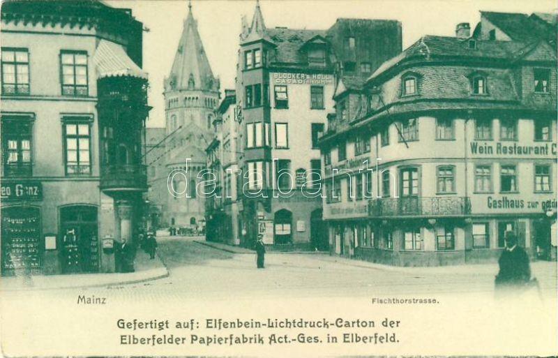 Mainz, Fischthorstrasse / street, restaurant
