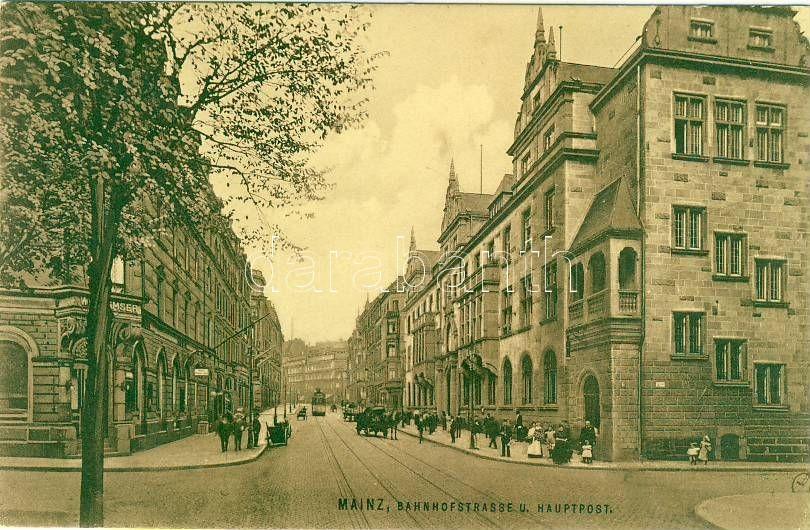 Mainz, Bahnhofstrasse, Hauptpost / railway street, post, Ottmar Zieher