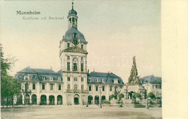 Mannheim, Kaufhaus mit Denkmal / Department store with monument