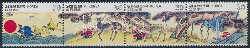 Folk art stripe of 4, Népművészet négyescsík