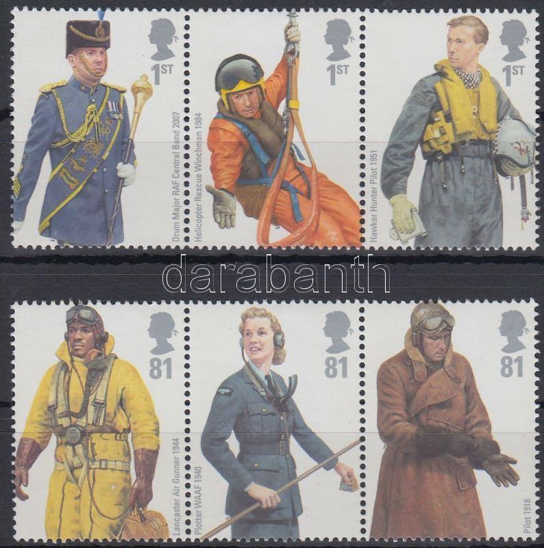 Royal Air Force uniform set 2 stripes of 3, Királyi légierő egyenruhák sor 2 db 3-as csíkban