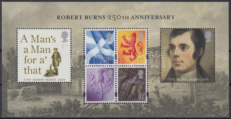 Robert Burns block, Robert Burns 250. születésnapja blokk