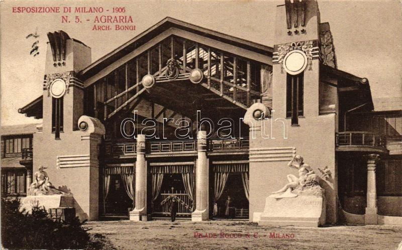 1906 Milan, Milano; Esposizione di Milano, N. 5. Agraria / exhibition