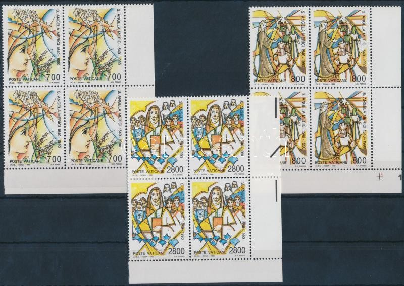St. Angela Merici set corner blocks of 4, Szent Merici Angela sor ívsarki négyestömbökben