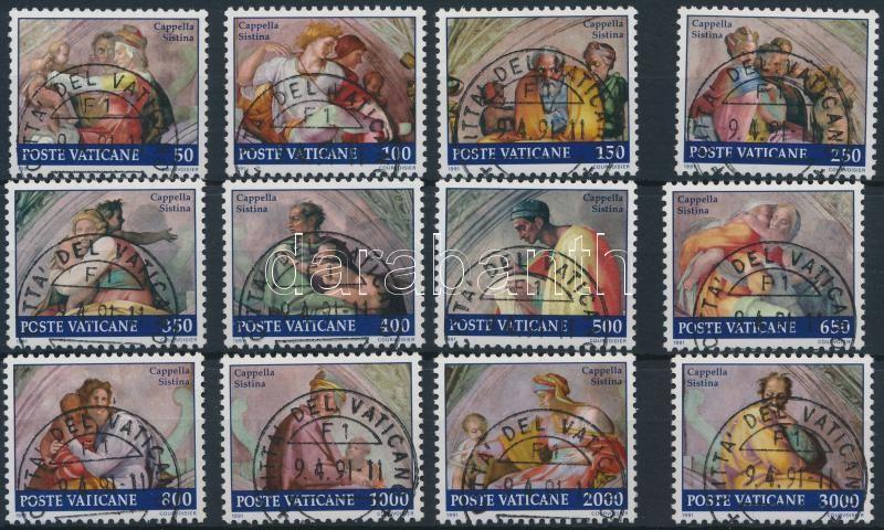 Sistine Chapel frescoes set + stamp-booklet, Sixtus kápolna freskói sor + bélyegfüzet
