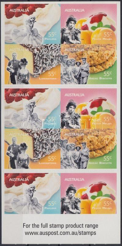 Desserts self-adhesive stamp-booklet, Desszertek öntapadós bélyegfüzet