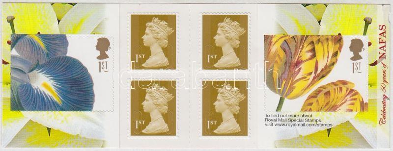 Flower arrangement self-adhesive stamp booklet, Virágkötészet öntapadós bélyegfüzet
