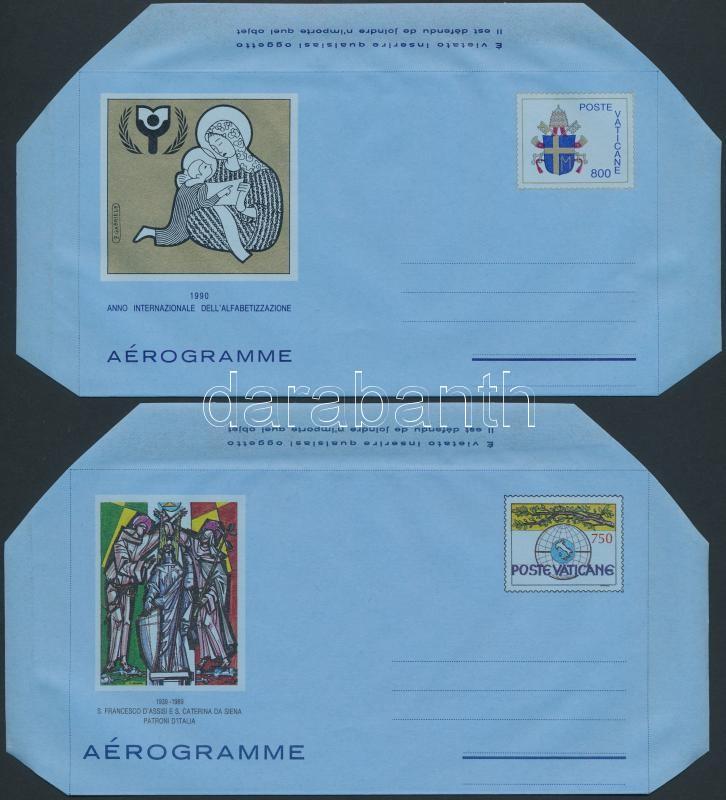 1989-1992 4 Aerogramm, 1989-1992 4 klf Aerogramm