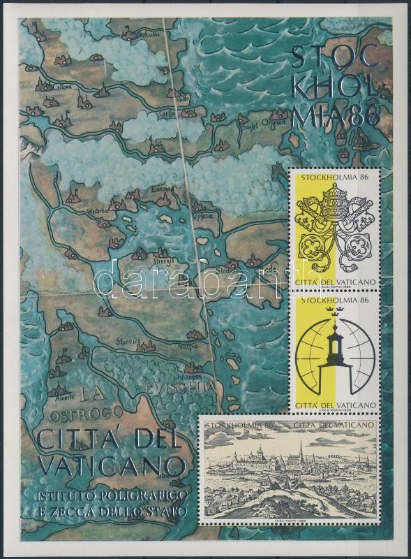 Bélyegkiállítás STOCKHOLMIA emlékív, Stamp Exhibition STOCKHOLMIA memorial sheet