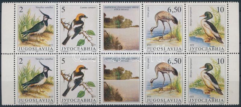 Protected animals: migratory birds stripe in pairs, Védett állatok: vándormadarak csík párban
