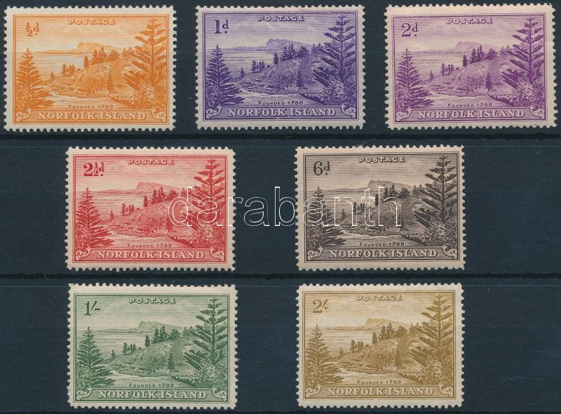 Definitive 7 stamps, Forgalmi 7 érték