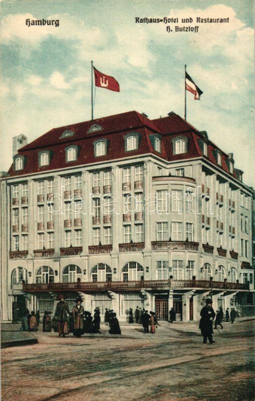 Hamburg, Rathaus-Hotel, Restaurant H. Butzloff