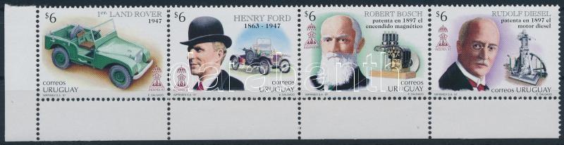 Bélyegkiállítás ívsarki négyescsík, Stamp Exhibition corner block of 4