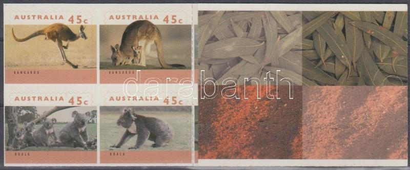 Kangaroos and koalas self-adhesive stamp-booklet, Kenguruk és koalák öntapadós bélyegfüzet