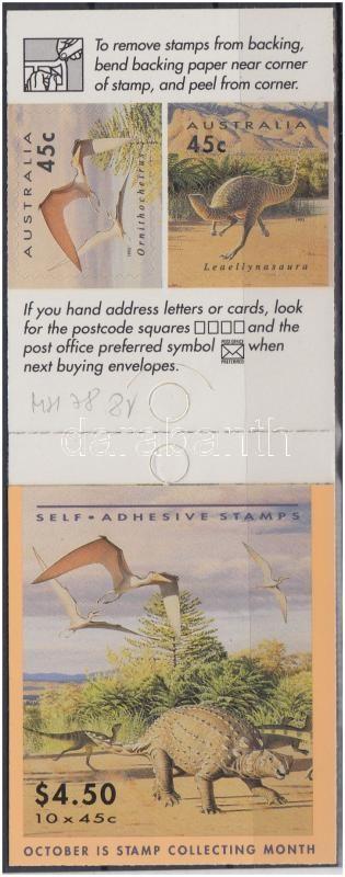 Dinosaurs self-adhesive stamp-booklet, Dinoszauruszok öntapadós bélyegfüzet