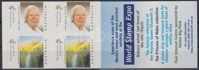 Famous Australians self-adhesive stamp-booklet, Híres ausztrálok öntapadós bélyegfüzet