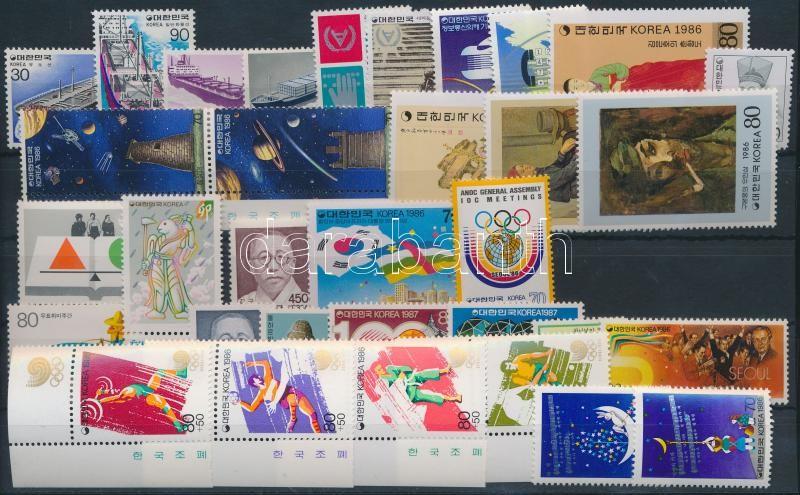 1981-1987 8 diff sets + 1 pair + 14 diff stamps, 1981-1987 8 klf sor + 1 pár + 14 klf önálló érték