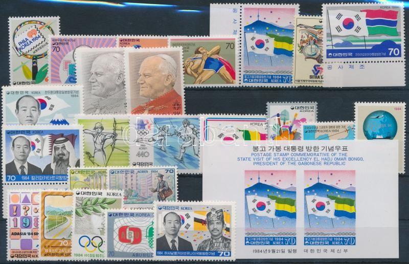 5 diff sets + 1 block + 14 diff stamps, 5 klf sor + 1 blokk + 14 klf önálló érték