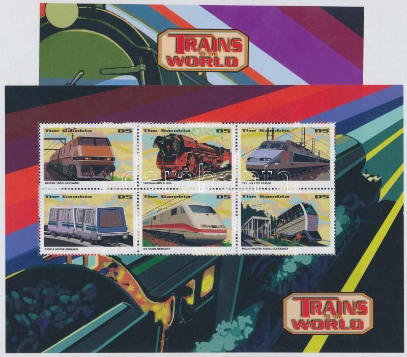 Locomotives from all over the world minisheet set, Mozdonyok a világ minden tájáról kisívsor