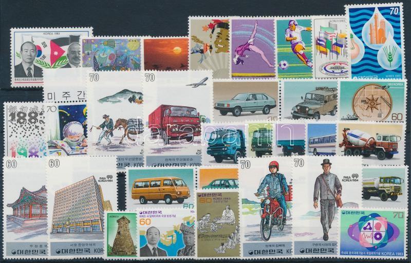 1983-1984 7 diff sets + 13 diff stamps + 2 diff pairs, 1983-1984 7 klf sor + 13 klf önálló érték + 2 klf pár