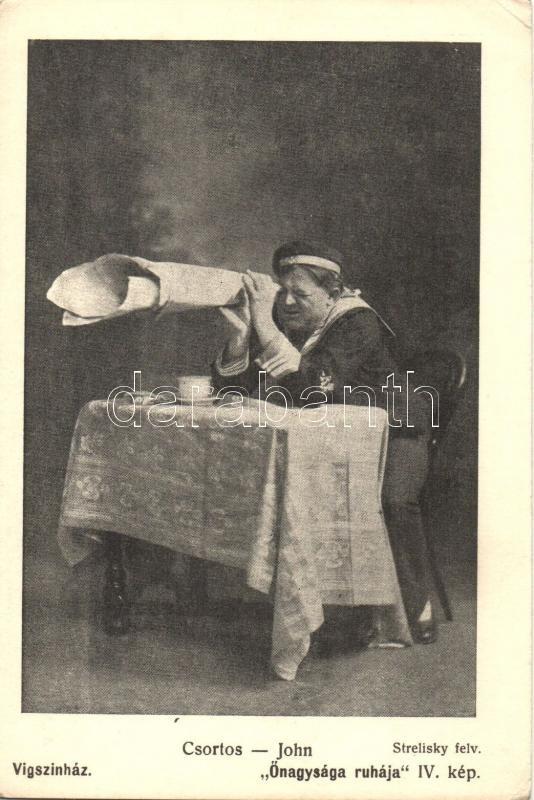 Csortos Gyula, Hungarian actor, Csortos Gyula, Őnagysága ruhája IV. kép; Vígszínház, Strelisky felvétele, Színházi Élet melléklete