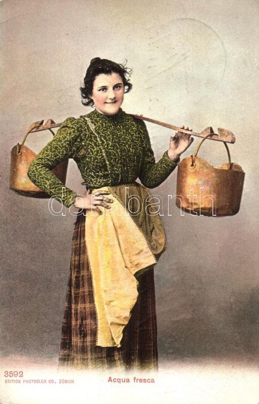 Acqua fresca / Italian folklore, water carrier, Olasz folklór, vízhordó